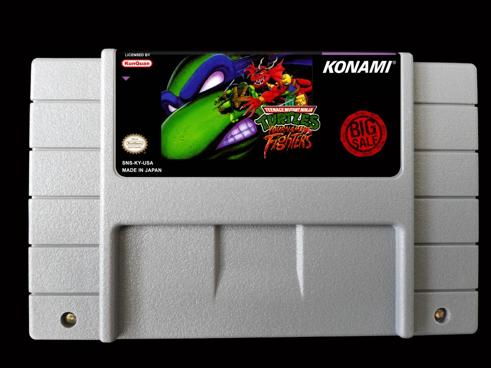 16Bit Oyunları ** Teenage Mutant Ninja Turtles Turnuva Fighters (ABD Versiyonu!!)